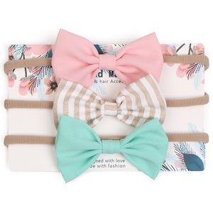 Other - Brand New Set 3 Bow Baby Toddler Girl Headbands